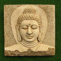 Buddha Head Plaque large