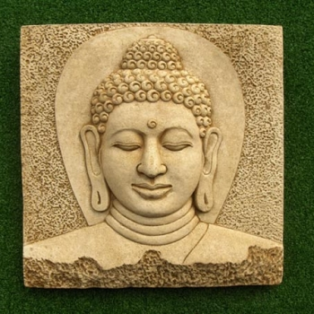 Buddha Head Plaque large