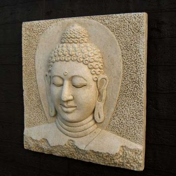 Buddha Head Plaque (large)