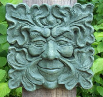 Smiling Green Man