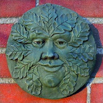 Round Oak Green Man