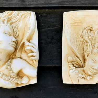 Mermaid Plaques pair