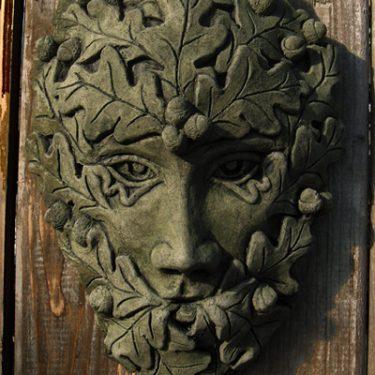 Oak Oval Green Man