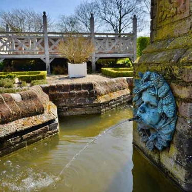 Green Man fountain at Cressing Temple