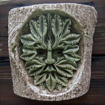 Green Man Log Carving
