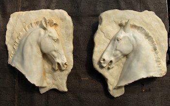 Parthenon Horse Head Plaques (set of 2)