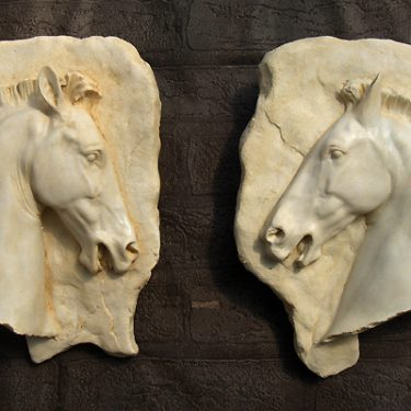 Parthenon Horse Head Plaques (set of 2)