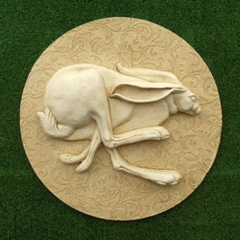 Racing hare Plaque