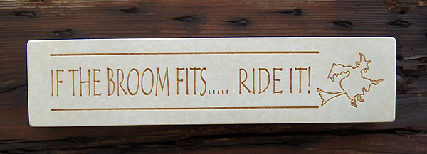 Witch & Broom Plaque