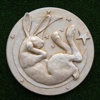Hare in the Moon Plaque