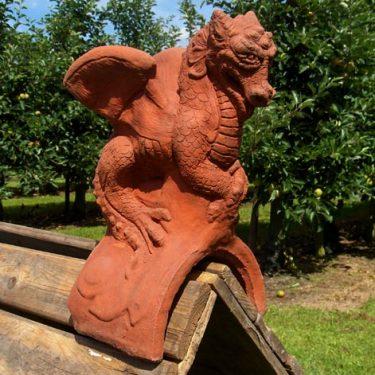 St. George's Dragon Ridgetile (half-round tile)