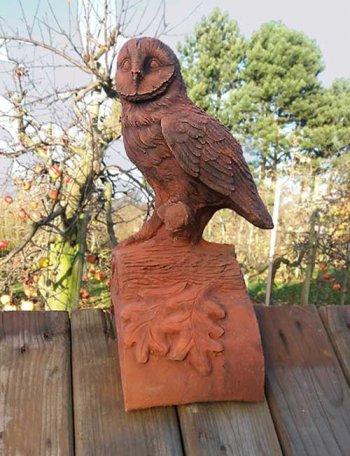Owl Ridgetile (half-round tile)