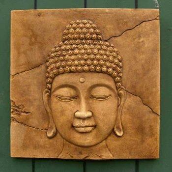 Buddha Head Plaque (medium)