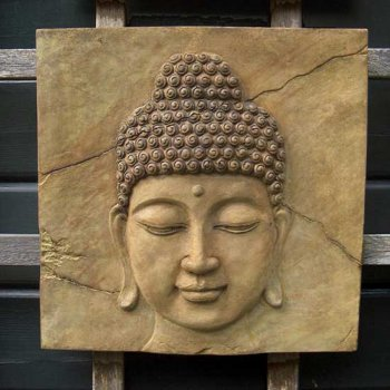 Buddha Head Plaque (medium)