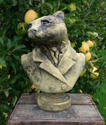 Badger Head Bust