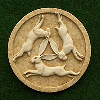 Three Hares Plaque (medium)